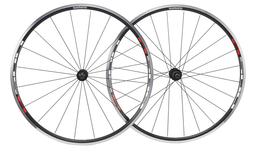 Shimano WH-R501 Hjulsæt 8/9/10-speed sort/rød